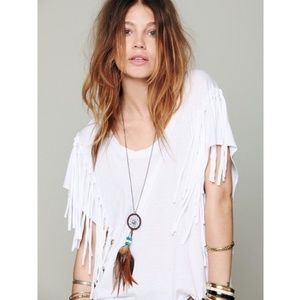 Free People S Fantasy Fringe Tee in White